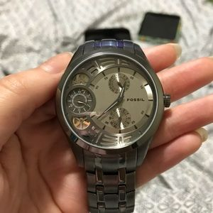 Fossil twist arkitekt gun metal automatic watch